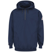 SEH8 Pullover Hooded Fleece Sweatshirt with 1/4 Zip - Cotton/Spandex Blend