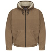JLH4 Brown Duck Hooded Jacket - EXCEL FR® ComforTouch®