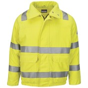 JMJ4 Hi Vis Lined Bomber Jacket with Reflective Trim - CoolTouch®2